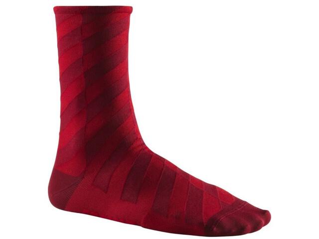 Mavic Graphic Mosaic Socks, cabernet/red